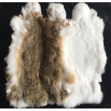 Натуральное натуральное кроличье меховое украшение для дома из цельного пушистого кроличьего меха, аксессуары для одежды высокого качеств...