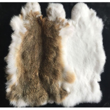 Nature Real Genuine Rabbit Fur Sale By Whole Piece Fluffy Ra