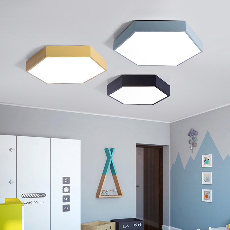 Diameter 30cm lamp LED ceiling lights height 5cm hexagon Ironware and Acrylic kitchen bed room foyer study LED light fixture