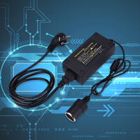 220V AC To 12V DC Car Cigarette Lighter Power Converter Plug Black 50/60Hz