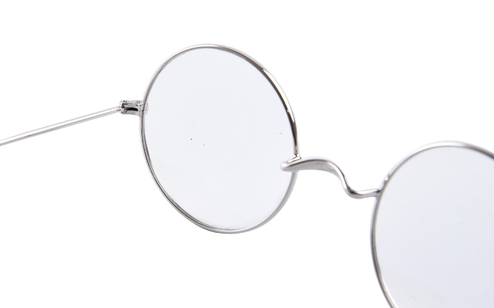 7d4b056154 Agstum 49mm Round Optical Rare Wire Rim Prescription Harry Potter Style Eyeglasses  Frame Without Nose Pads Antique Glasses Rx-in Eyewear Frames from Apparel  ...