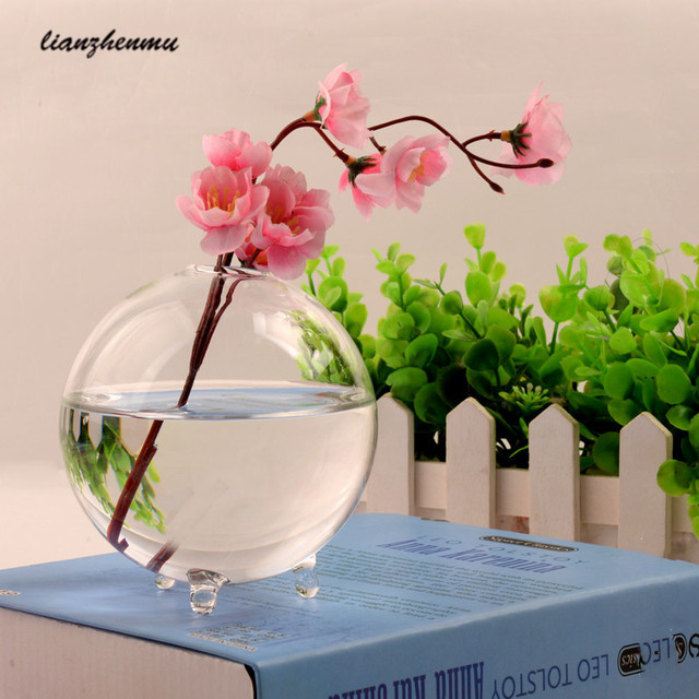6pcs Clear Ball Glass Vase Bottle Terrarium Containers Diy Table