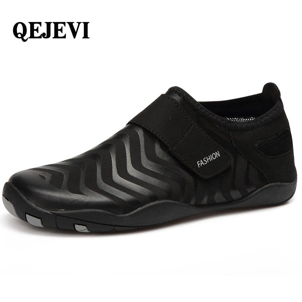2018 QEJEVI Quick Drying sneakers rubber Beach Water sport Wading shoes barefoot Walking Upstream Aqua shoes for men women aqua