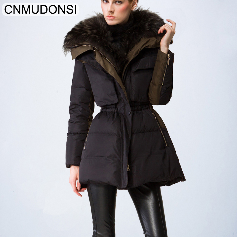 CNMUDONSI 90%   down     coat   2018 new European real nagymaros collar   down   jacket women's winter great quality luxury   down     coat