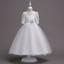 Kid Girl Wedding Flower Girls Dress High-end Princess Party Pageant Formal Dress Prom Wedding Birthday Dress 10 12 14 15 years 2016 new spring flower girl princess dress kid party pageant wedding bridesmaid tutu ball bow white dress 2 4 6 8 10 12 years