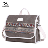 Canvasartisan Brand New Women Canvas Backpack Retro Style Floral Travel Backpacks Female Dual Purpose Shoulder Crossbody