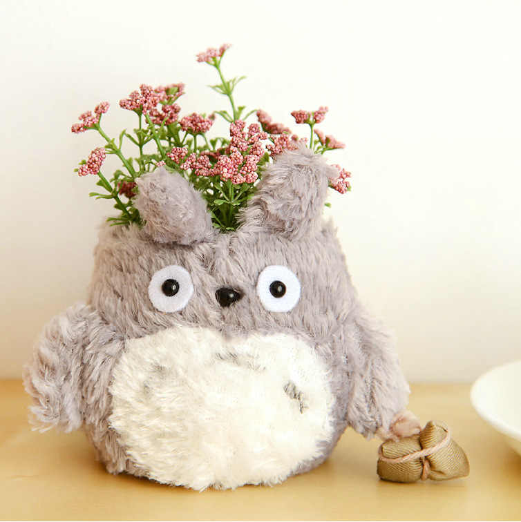 1 Pcs 13*11.5cm Lovely Anime Cartoon My Neighbor Totoro plush pencil vase brush pot Pen holder For Kid Gift