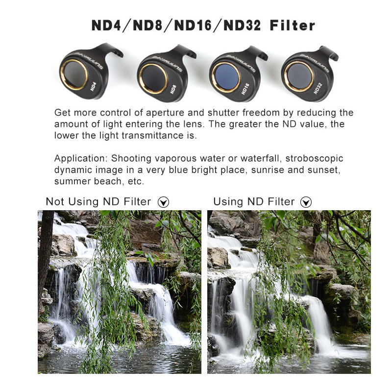 HD Filter ND ND4 ND8 ND16 ND32 Camera Lens Filters for DJI SPARK Drone Accessories