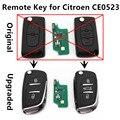 Voltear Clave Remoto 433 MHz ID46 chip de Coche mejorado para CITROEN C2 C3 C4 C5 C6 Controlador de Entrada Sin Llave CE0523 modelo