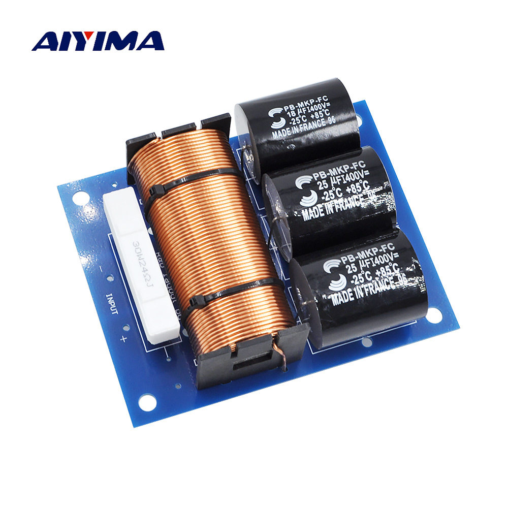 Online Shop Ghxamp 300w 600w Subwoofer Speaker Crossover Audio 1 Way To Wiring Harness Diagram Aiyima 1pc 800w Passive Filter Frequency Divider For High Power