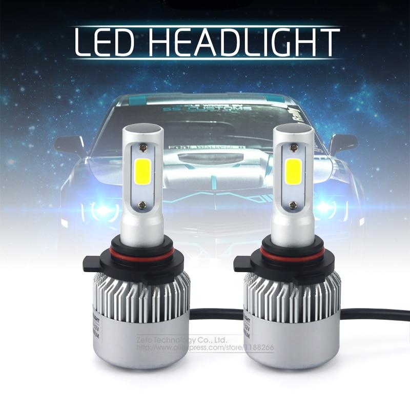 Prix pour 2x Juste Plug & Play 9012/HIR2 8000Lm CREE Puce CSP COB Led 72 W Phare De Voiture Ampoule Canbus 6500 K Auto DRL Brouillard Conduite Lampe
