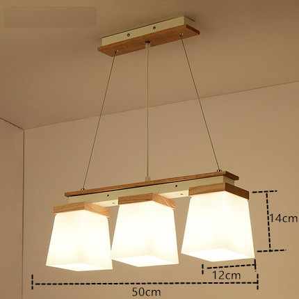 IWHD Glass Hanglamp LED pendant Lights 3 Heads Iron Modern Hanging Lamp Bedroom Kitchen Wood Luminaire Suspendu Home Lighting