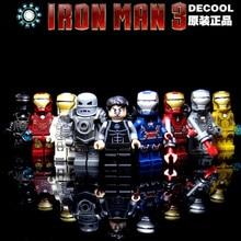 Decool Building Blocks Bricks Toys FIT for legos classic Marvel SuperHeroes Avengers Iron man Tony Stark  Mark mini figure