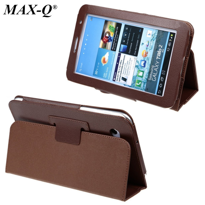MAX-Q HOT Business Stereo Stand Case for samsung Galaxy Tab 2 7.0 p3100 p3110 PU leather case protective book cover cases