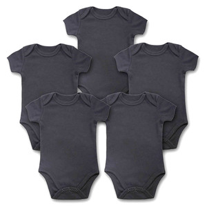 Image 2 - 5 Teile/los Baby Bodys Neugeborene Kleidung Körper Bebe Kurzarm Weiß Sommer Marke Neue Infant Overall Baby Mädchen Jungen Kleidung