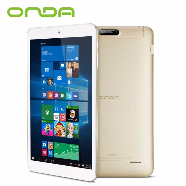 Onda V80 Plus Dual OS Tablet 8 inch 2GB RAM 32GB ROM IPS Screen Intel Z8300 64bit Dual Cameras Windows 10 Android 5.1 Tablet PC