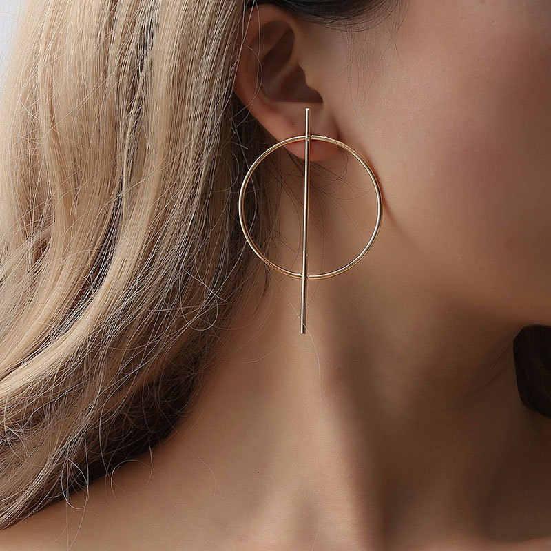 ใหม่แฟชั่นวงกลมขนาดใหญ่ต่างหูกลมสำหรับผู้หญิงเงินทองเครื่องประดับต่างหูของขวัญ Punk Mujer oorbellen