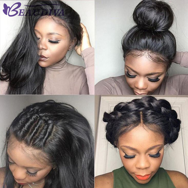 Beaudiva Straight Hair 360 Lace Frontal Wig With Baby Hair Short