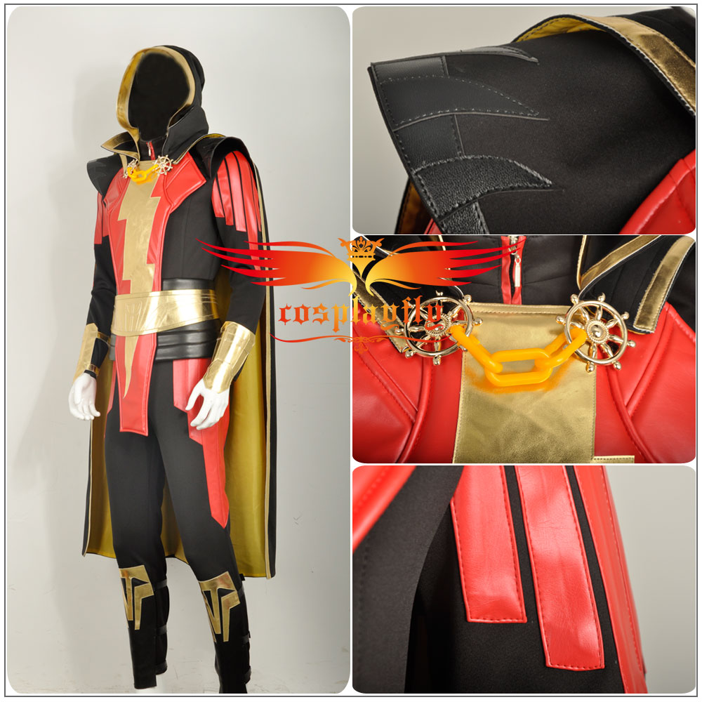 Webgame Injustice  Gods Among Us Captain Marvel Dominator Shazam For Adult  Cosplay Costume Custom Made For Halloween Party-in Movie   TV costumes from  ... f37e2aec53710