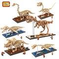 LOZ Nueva Llegada de Fósiles de Dinosaurios Juguetes Educativos DIY Modelo de Construcción Bloques de Construcción Modelo Tyrannosaurus Rex Dinosaurios Juguetes