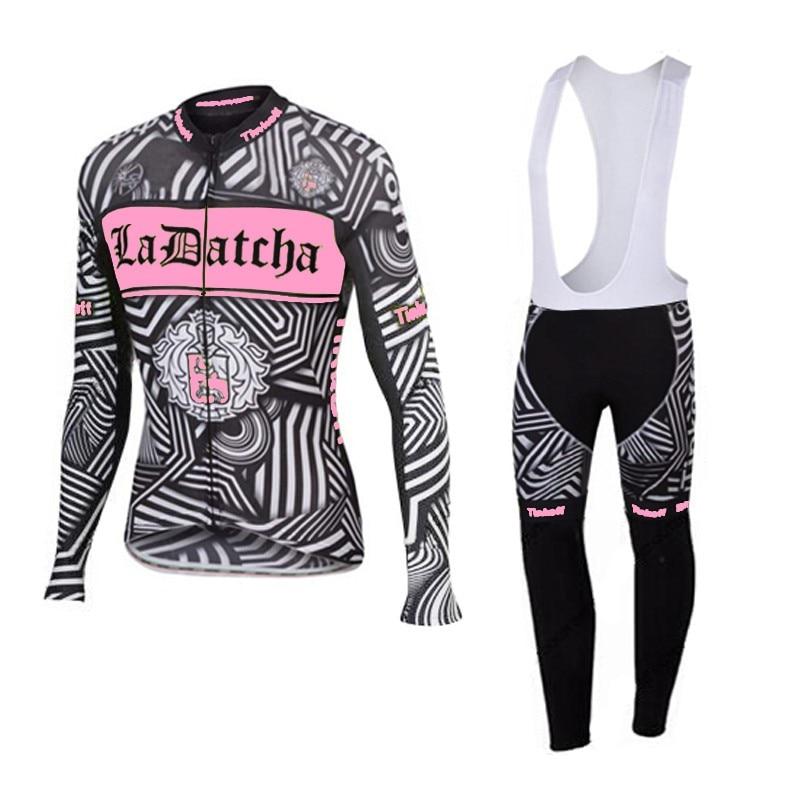 Pro team rosa cycling jersey panno morbido di inverno termico Ropa ciclismo manica lunga Traspirante panno quick dry MTB Della Bicicletta maillot