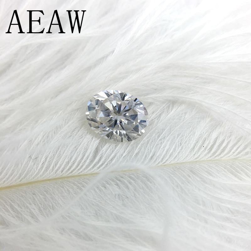 AEAW 2 Carat 7x9mm Bleu Clair Couleur Certifié Homme Fait Diamant Lâche Ovale Moissanite Perle Test Positif comme Vrai Diamant