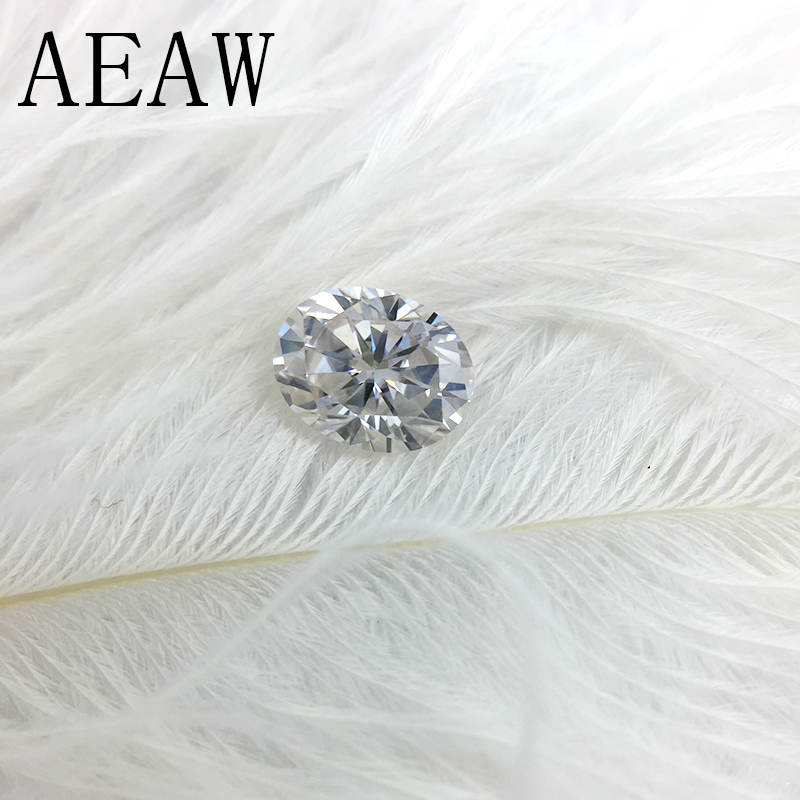 AEAW 2Carat 7x9mm Light Blue Color Certified Man Made Diamond Loose Oval Moissanite Bead Test Positive As Real Diamond dominoes 1 blue diamond ne