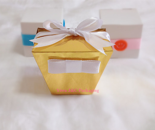 Free Shipping Shiny Gold Takeout Wedding Favor Bo Party Box Sweet