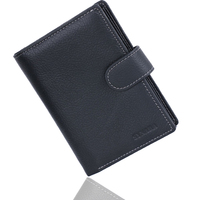 Brand Genuine Leather Passport Holder Men Wallet With Passport Pocket Coin Pocket Multiple ID Card Holder