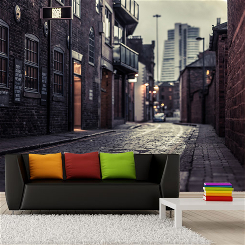 beibehang papel de parede 3D Europes streets Mural wallpaper City