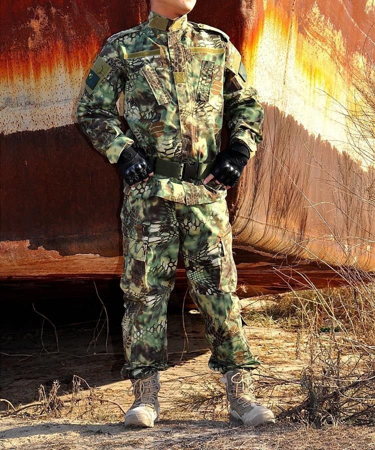 Tactical Uniform Outdoor Hunting Clothing Set Pants Jacket Kryptek Camouflage Army Men Camping Hiking цена 2017
