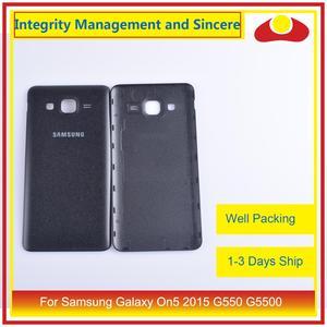Image 4 - 10 pièces/lot pour Samsung Galaxy On5 2015 G550 G550F SM G550FY boîtier batterie porte arrière couverture boîtier châssis coque