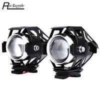 2pcs 125W 12V 3000LM U5 LED Transform Spotlight Motorcycle Headlight Aluminum Alloy Material High Brightness Easy