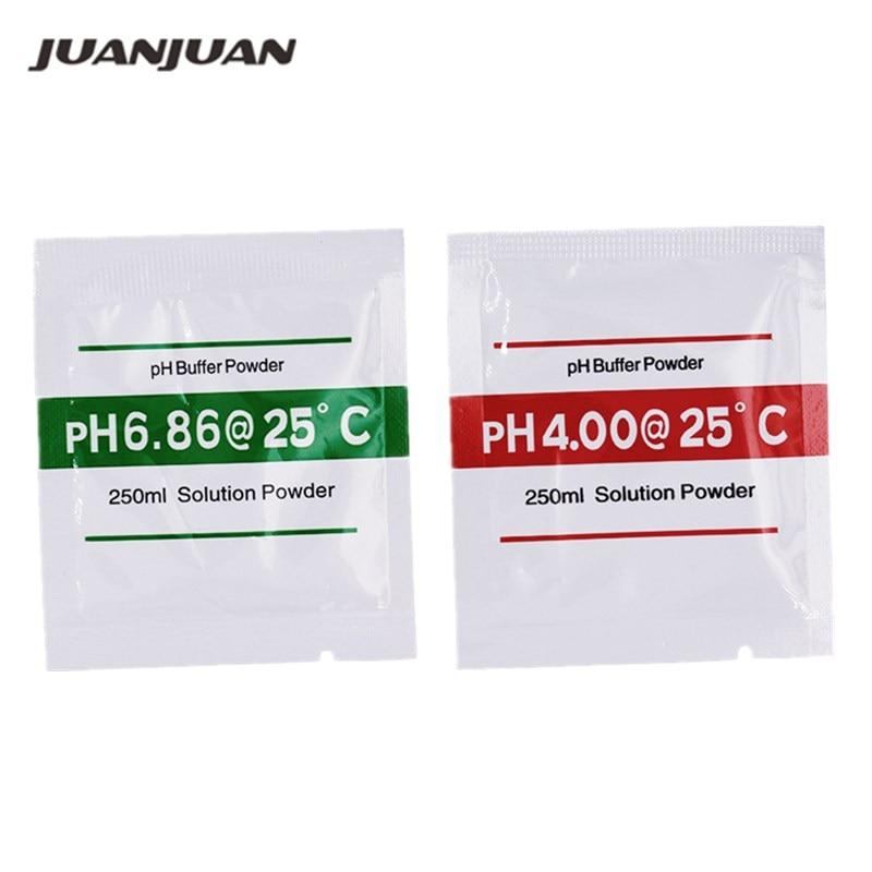 200Pcs PH Buffer Powder para acuarios Medidor de pH Medidor de prueba de pH Medida Solución de calibración 4.0 / 6.86 10% de descuento
