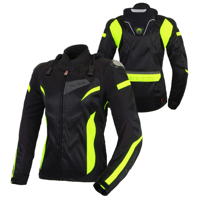 BENKIA Motorcycle Jackets Women Motocross Jacket Protective Gear Racing Breathable Windproof Moto Jacket For Spring Summer 3