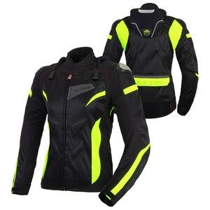 Image 4 - BENKIA chaquetas para motocicleta para mujer, chaqueta de Motocross, equipo de protección, carreras, transpirable, a prueba de viento, para primavera y verano