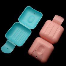 Container Soap-Rack Hiking-Holder Dispenser Case Dish-Plate Shower Bathroom Travel Plastic