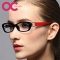 2016 Nuevo de Las Mujeres Vidrios Ópticos Marco de Anteojos Equipo Oculos Gafas