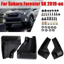 車の泥フラップスバルフォレスター用 sk 2019 2020 mudflaps スプラッシュガードフェンダーためマッドガード泥フラップアクセサリー