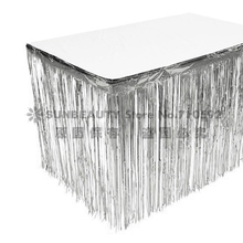 NEW Metallic Fringe Table Skirt Foil Tinsel for Showers Birthday Graduate Wedding Anniversary Nursary Decor