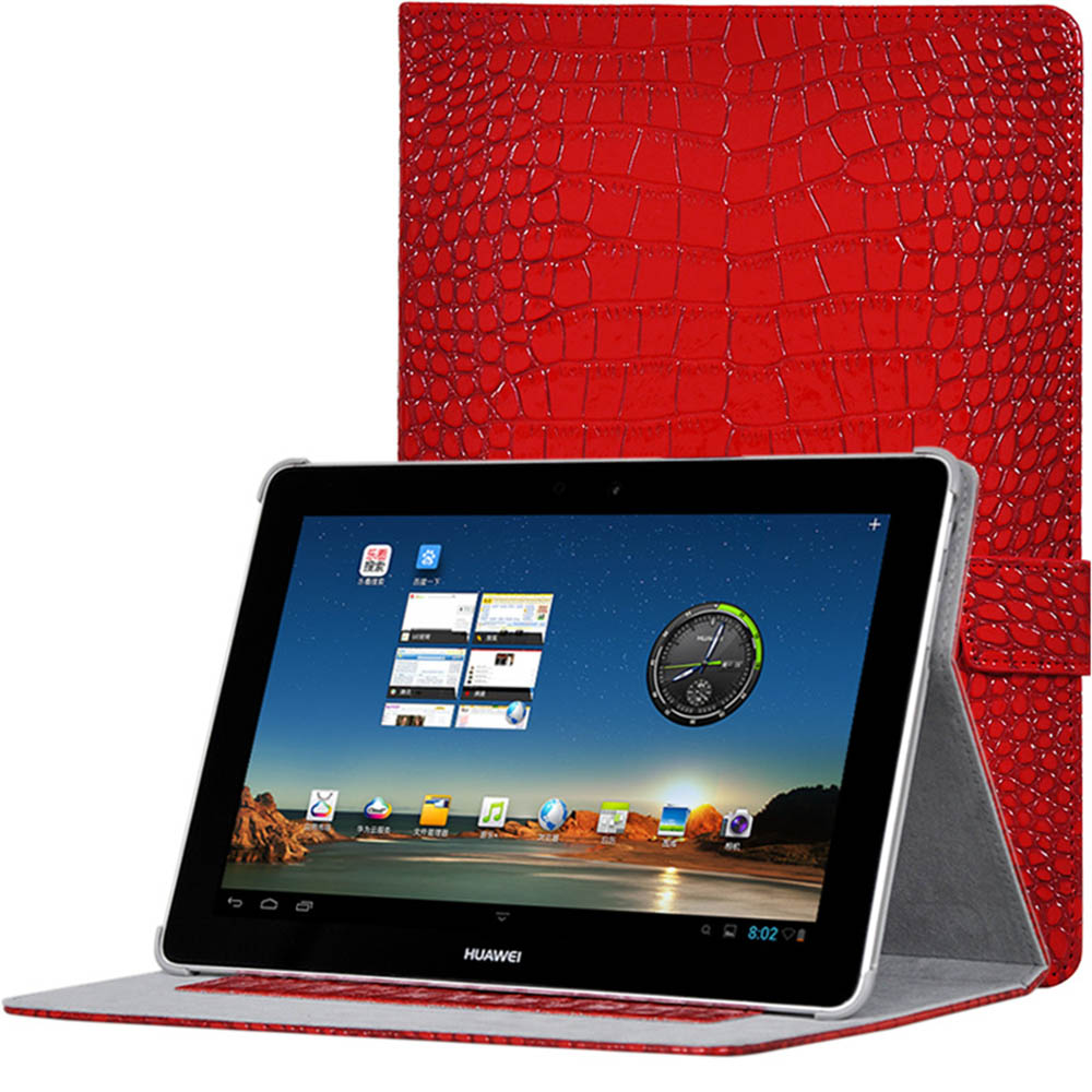 Case for Huawei MediaPad 10 Link Crocodile Pattern PU Leather Cover Funda for Huawei MediaPad 10 FHD Link+Tablet Case+Stylus Pen