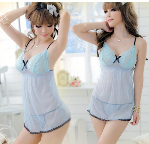 Light Blue Babydoll Dresses