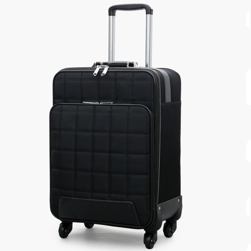 16/20/24 inch Travel Suitcase Bag,Women Trolley Case ,Fashion Rolling Luggage Bags,Men Square grid Commercial Box with 4 wheels