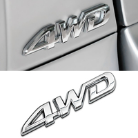 Car Styling 3D Aluminum Metal 4WD Letter Metal Emblem Badge Sticker For SUV Trunk Chrome Decal