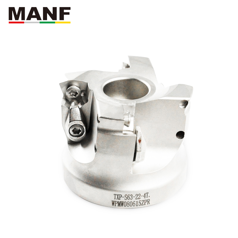 MANF High Feed Face Mill TXP Inserted Shoulder Cutter Face Mill For WPMT080615ZSR Carbide Inserts