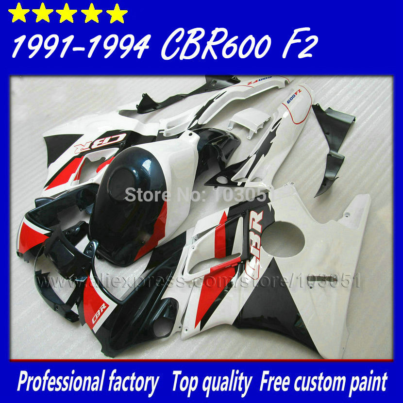ABS factory fairings parts for Honda white blue 1993 1994 CBR 600 F2 1991 1992 CBR600 F 91 92 93 94 CBR600 F2 fairing kits+ tank мото обвесы hjmt 93 94 cbr600 f2 91 94 f2 cbr600 f2