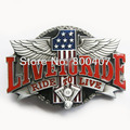 Distribute Vintage Ride to Live Motorcycle Ride Driver Biker Belt Buckle BUCKLE-AT068 Free Shipping