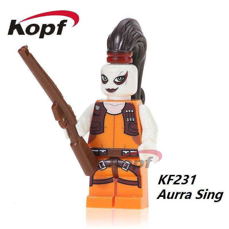 Lego Star Wars Custom Aurra Sing Minifigure