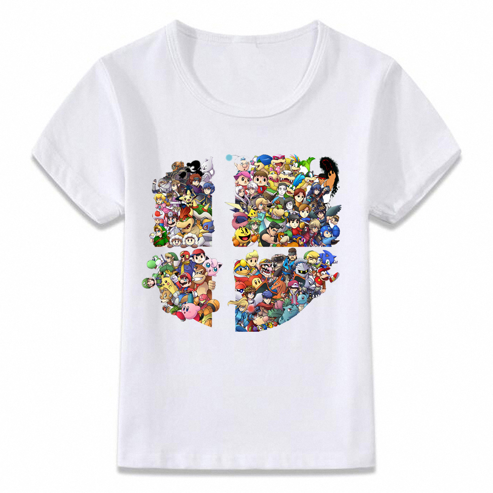 Kids Clothes T Shirt Super Smash Bros Children T-shirt for Boys and Girls Toddler Shirts
