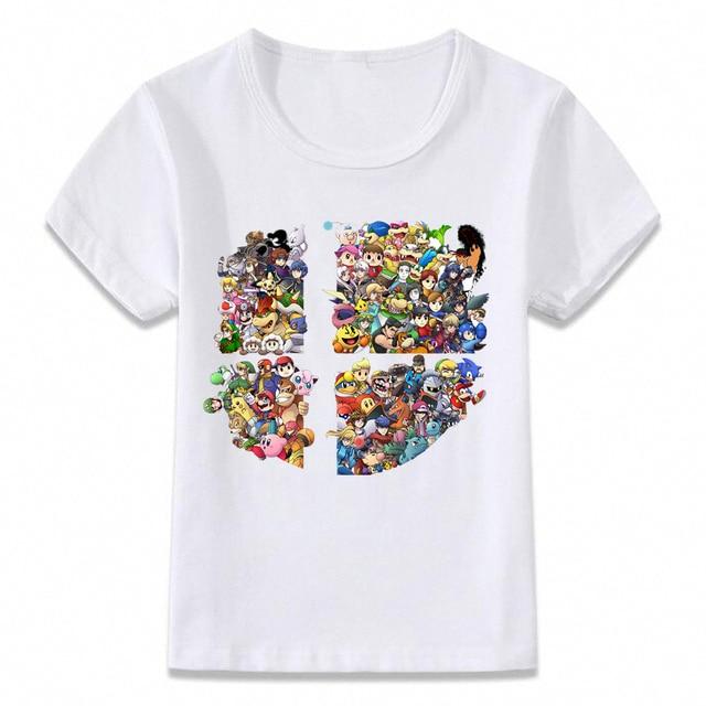 Kids Clothes T Shirt Super Smash Bros Children T-shirt for Boys and Girls Toddler Shirts